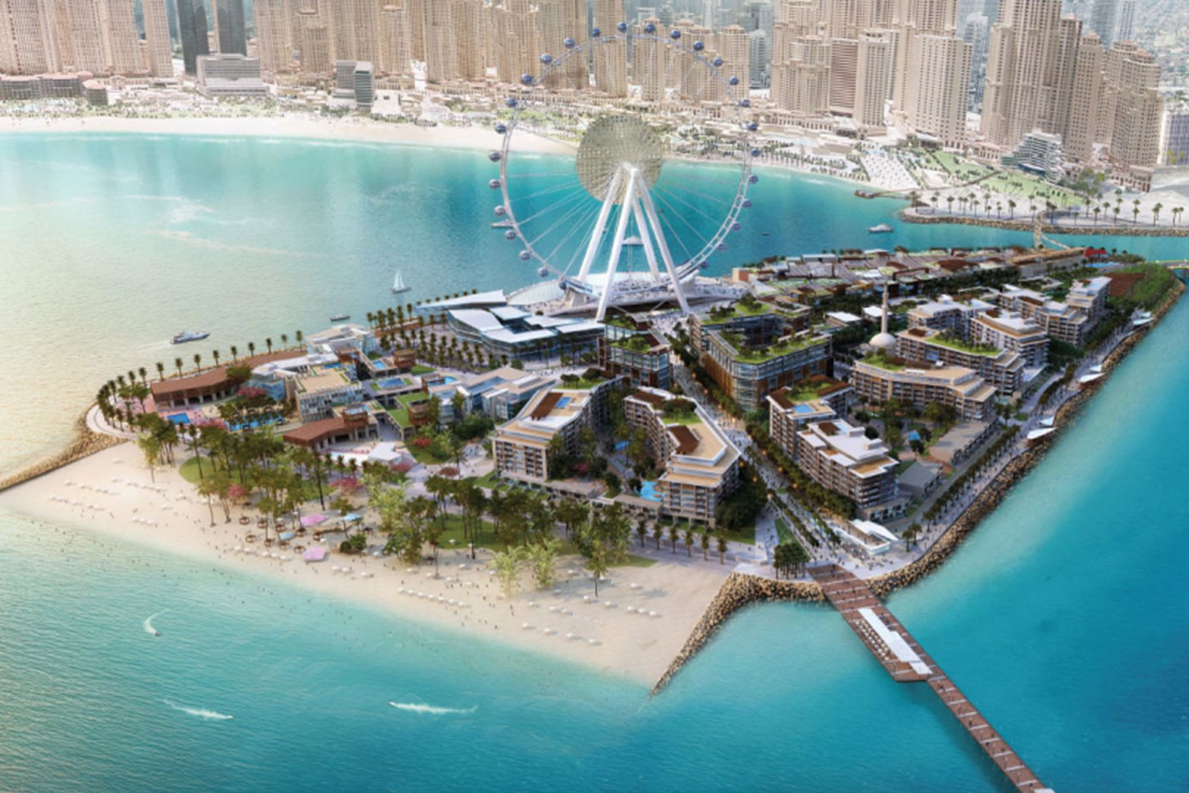Ain Dubai Takes Shape on Bluewaters Island