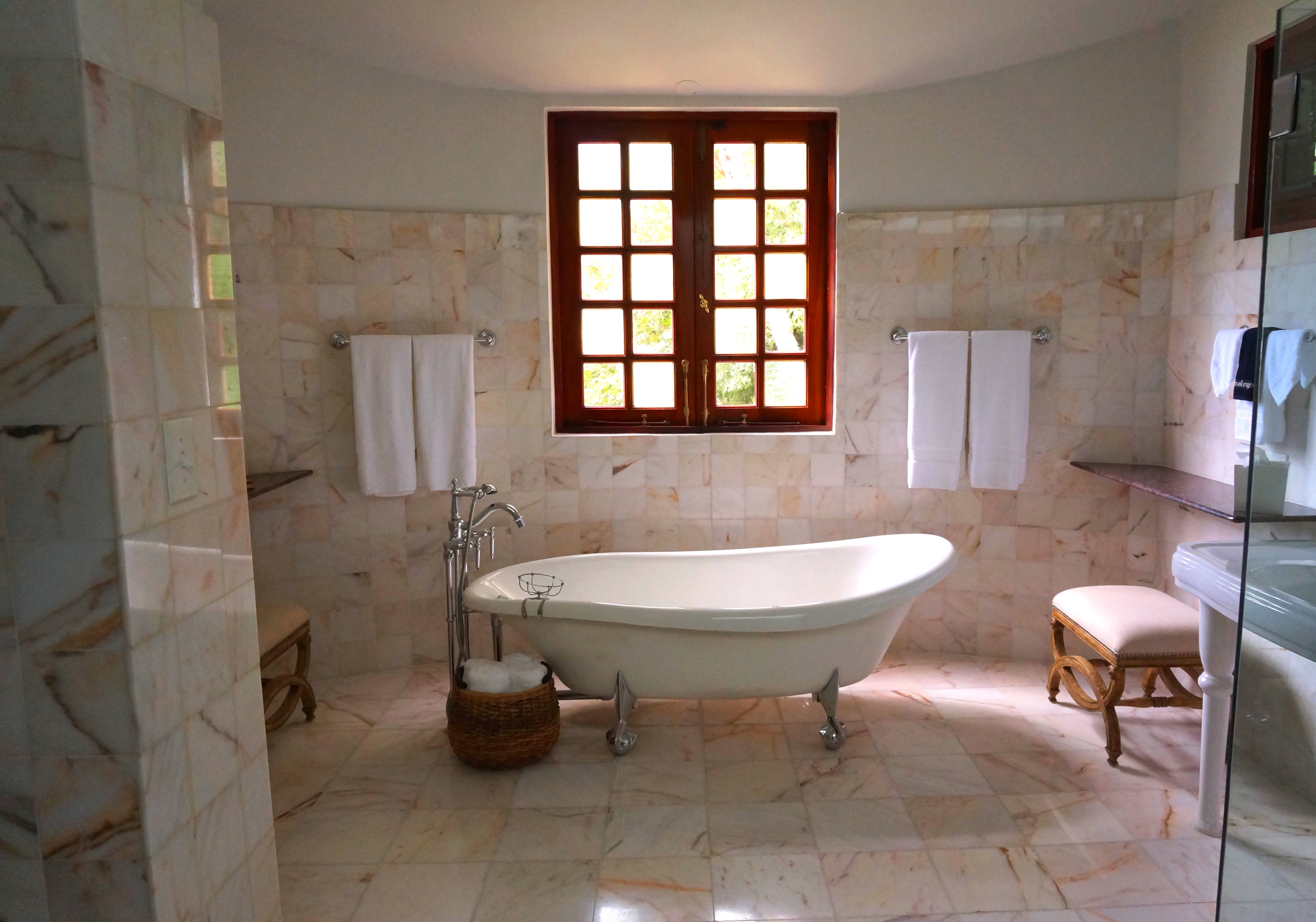 how to clean a marble tile shower floor