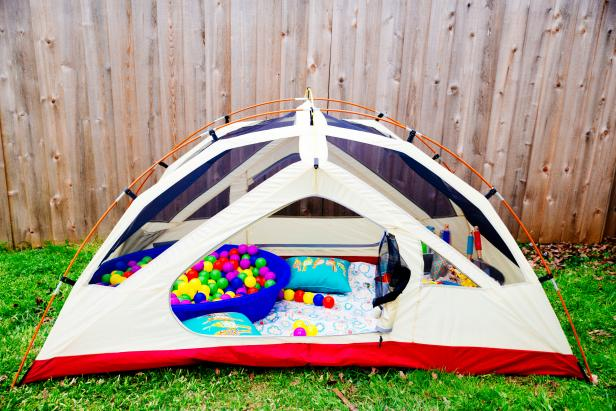 Turn an Old Tent Into an Amazing Playroom