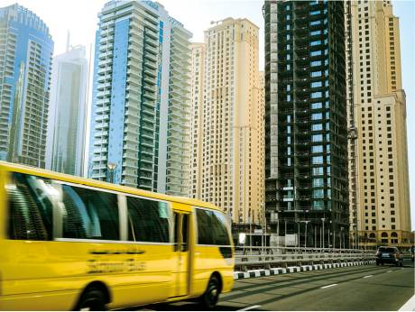 School bus Dubai